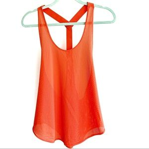 FREE PEOPLE MOVEMENT Coral Mesh Tank top